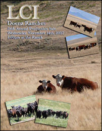 LCI Herefords/Doenz Ranch 34th Annual Production Sale